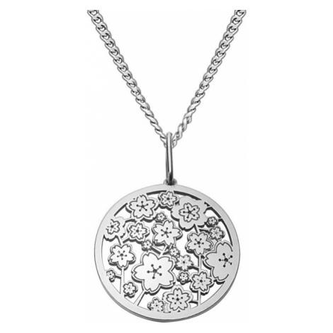 Praqia Strieborný náhrdelník Magic Sakura KO5039_CU035_49_RH (retiazka, prívesok)