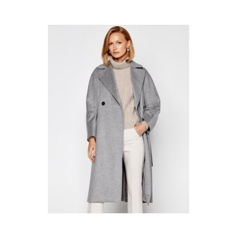 Weekend Max Mara Vlnený kabát Resina 50160203 Sivá Regular Fit