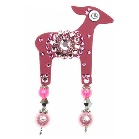 Ružové dámske brošne