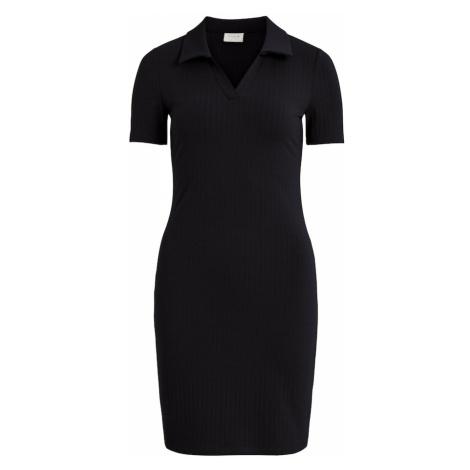 VILA Košeľové šaty 'Pola'  čierna