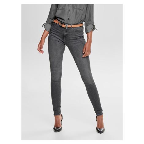 Šedé skinny fit džínsy ONLY Paola