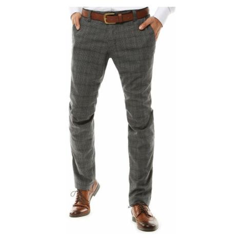 Elegantné nohavice v šedej farbe DStreet