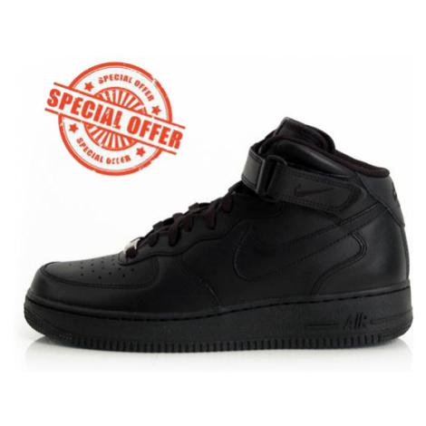 Nike WMNS Air Force 1 Mid `07 LE Black Black 366731-001 - Veľkosť EU:36-Veľkosť US:5.5-Veľkosť U