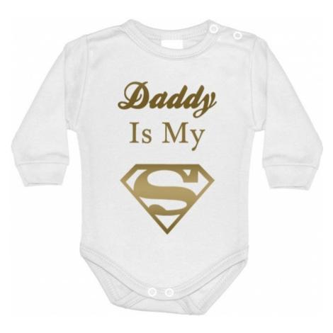 Detské body s potlačou Daddy is my Superhero