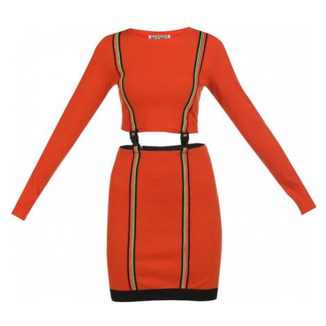 myMo ATHLSR Športové šaty  čierna / neónovo oranžová / kiwi