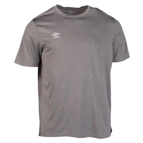 Umbro FW MARL CREW TRAINING JERSEY SMALL LOGO šedá - Pánske športové tričko