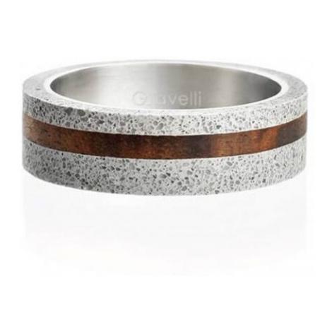Gravelli Betónový prsteň šedý Simple Wood GJRUWOG001 mm