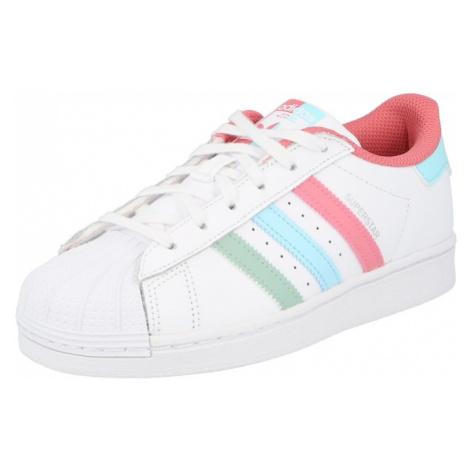 ADIDAS ORIGINALS Tenisky 'Superstar'  biela / ružová / tyrkysová / zelená