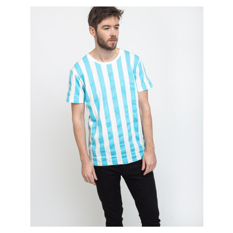 Dedicated T-shirt Stockholm Big Stripes Light Blue