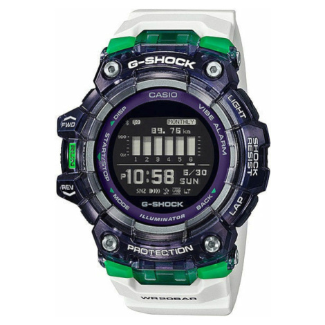 "Casio G-Shock GBD 100SM-1A7ER ""Skeleton Bezel Series"" biele / fialové"