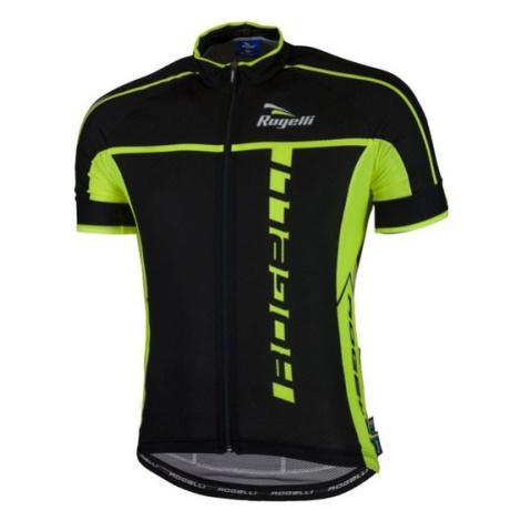 Ultraľahký cyklistický dres Rogelli UMBRIA 2.0 s krátkym rukávom, čierno-reflexná žltý 001.247.
