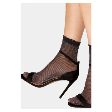Dámske pančuchové ponožky Sparkle Rib ČIERNA Pretty Polly