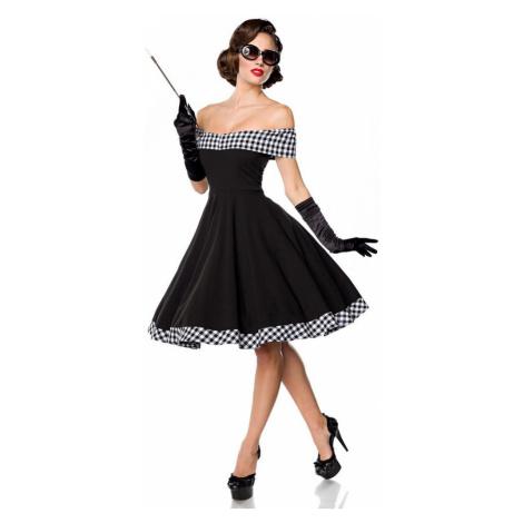Pin up dámske šaty s odhalenými ramenami