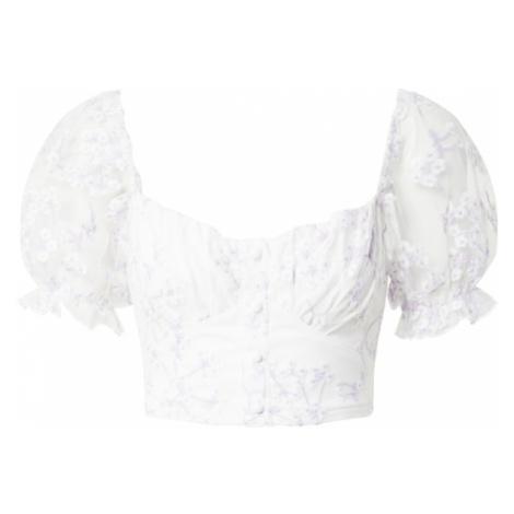 Love Triangle Tričko 'OLIVIA'  svetlofialová / biela