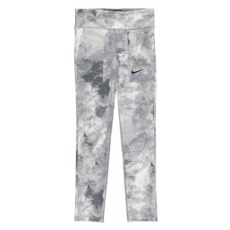 NIKE Športové nohavice  svetlosivá / krémová