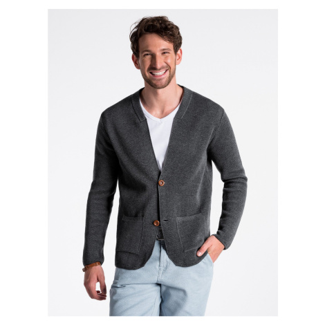 Ombre Clothing Men's sweater E168 Grey