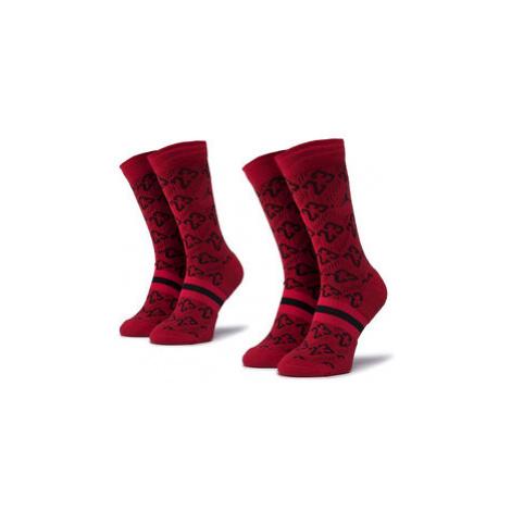 NIKE Súprava 2 párov vysokých ponožiek unisex CU0037 687 Červená Jordan