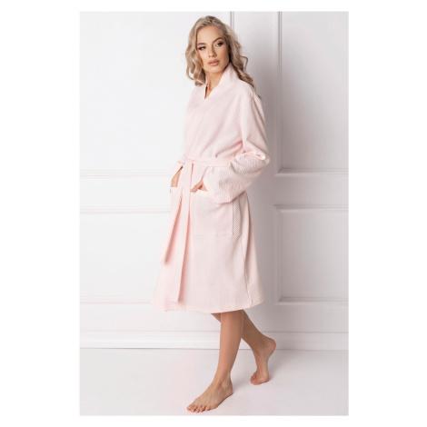 Dámsky župan Aruelle Marshmallow Pink Short Růžová