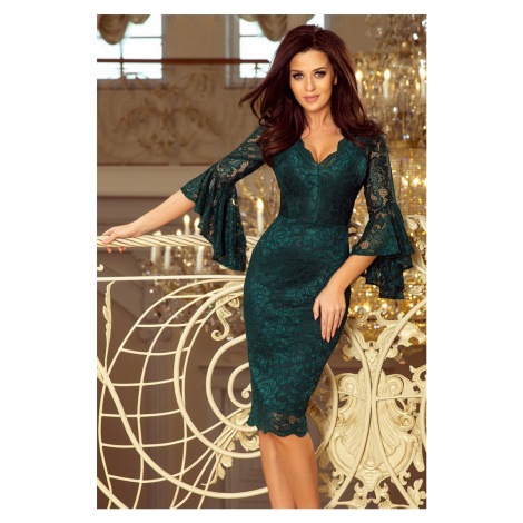 Dámske zelené mini šaty LETIZIA 234-2