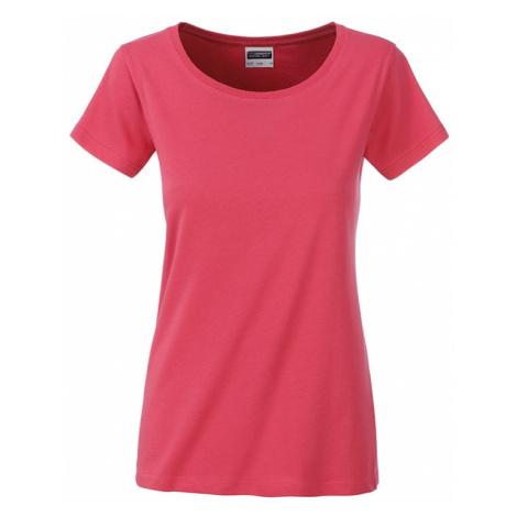 James & Nicholson Klasické dámske tričko z biobavlny 8007