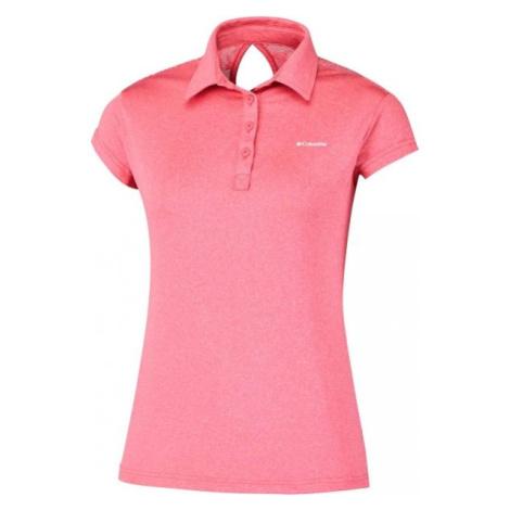 Columbia PEAK TO POINT NOVELTY POLO ružová - Dámske polo tričko