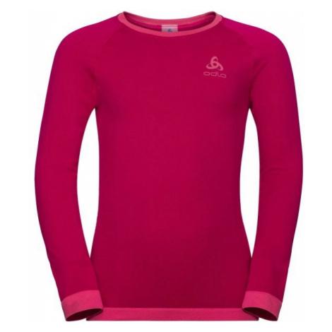 Odlo BL TOP CREW NECK L/S PERFORMANCE WARM KI červená - Detské tričko