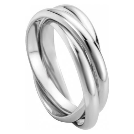Esprit Trojitý strieborný prsteň Curl ESRG007811 mm