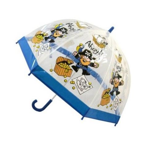 Blooming Brollies Detský priehľadný palicový dáždnik Bugzz Kids Stuff Pirate BUPIR