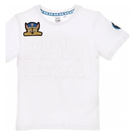 Tlapková patrola biele tričko pre chlapcov