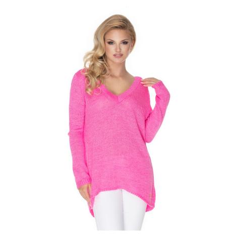 Ružový pulóver 30067 PeeKaBoo
