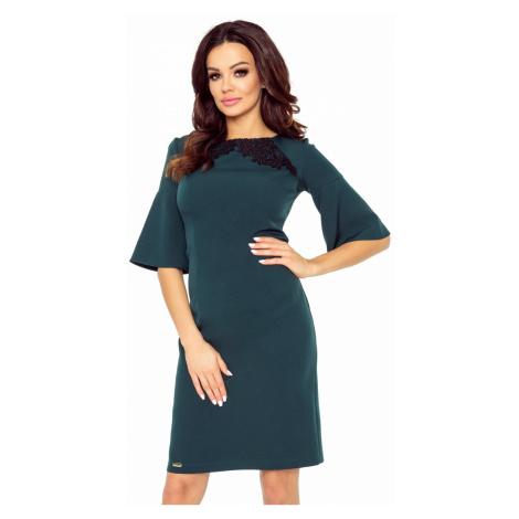 Tmavozelené šaty Lisa Bergamo