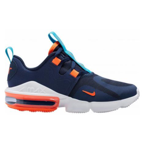 Nike AIR MAX INFINITY tmavo modrá - Detská voľnočasová obuv