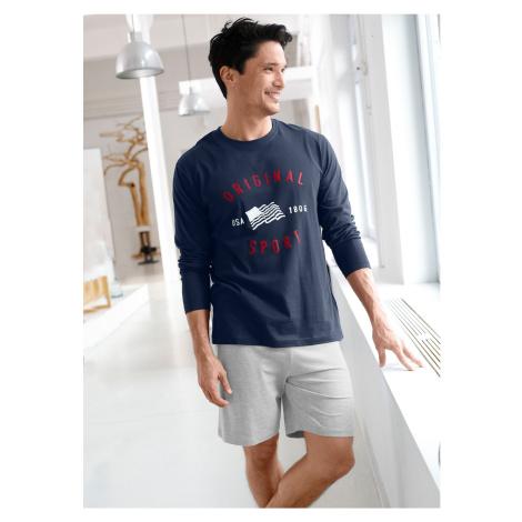 Blancheporte Pyžamové tričko s dlhými rukávmi nám.modrá