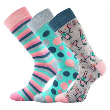 Voxx S-BOX dámska 3pack modrá - Dámske ponožky