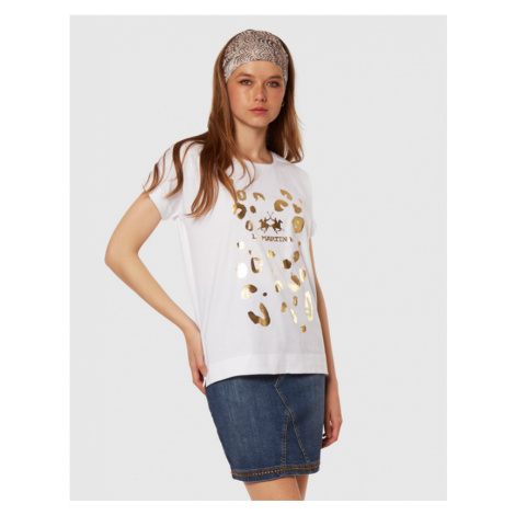 Tričko La Martina Woman Cotton Jersey T-Shirt
