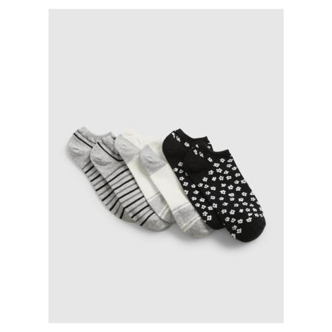 GAP čierne 3 pack ponožiek
