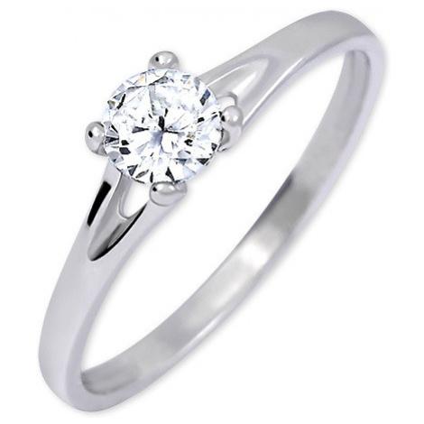 Brilio Silver Strieborný zásnubný prsteň s kryštálom 001 04 mm