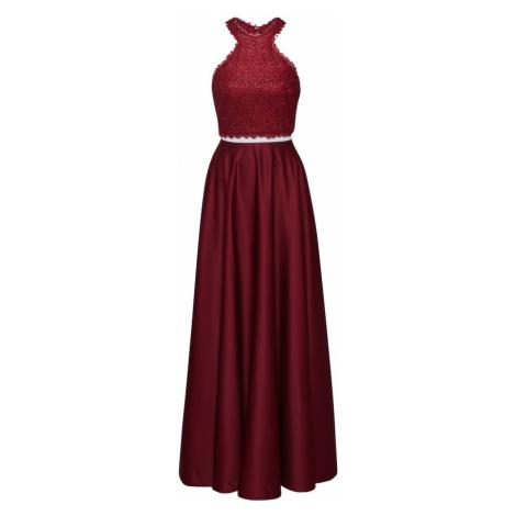 mascara Večerné šaty '2 PIECE SATIN'  vínovo červená